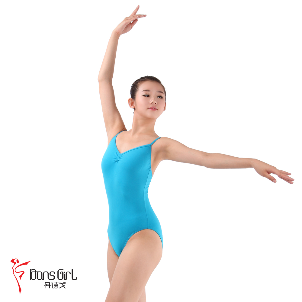 Dan poetry ge dance costume leotard ballet clothes and aerobics clothing 2160 cotton straps in the back body suit