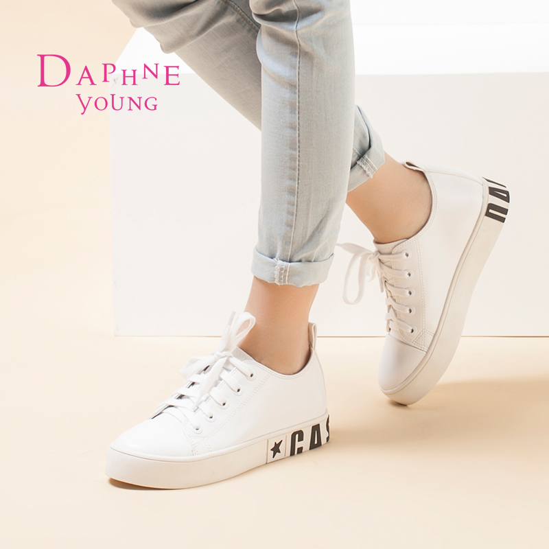 Daphne 2015 autumn shoe lace deep mouth round flat shoes with casual comfort shoes women shoes cheap shoes clearance tide