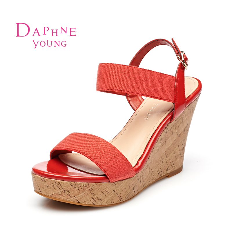 Daphne/daphne summer new shoes slope with waterproof sandals open toe sandals 1515303024 european and american style