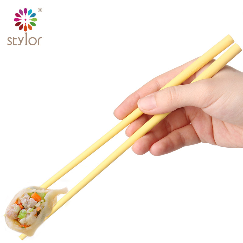 Darvin youpin korea creative tableware portable silicone slip mildew chopsticks mono color home family pack