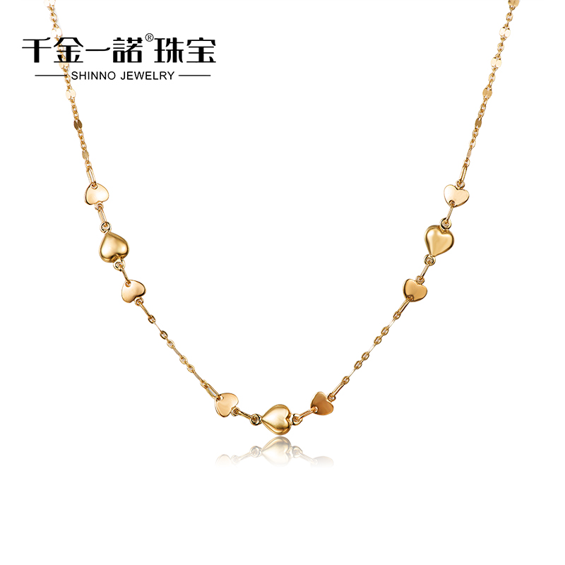 Daughter of a promise 18k-color gold necklace k gold necklace gold color necklace imported from italy 2015 new