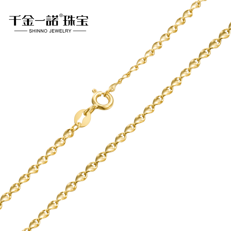 Daughter of a promise k gold necklace female models clavicle chain k gold rose gold color gold necklace twisted piece
