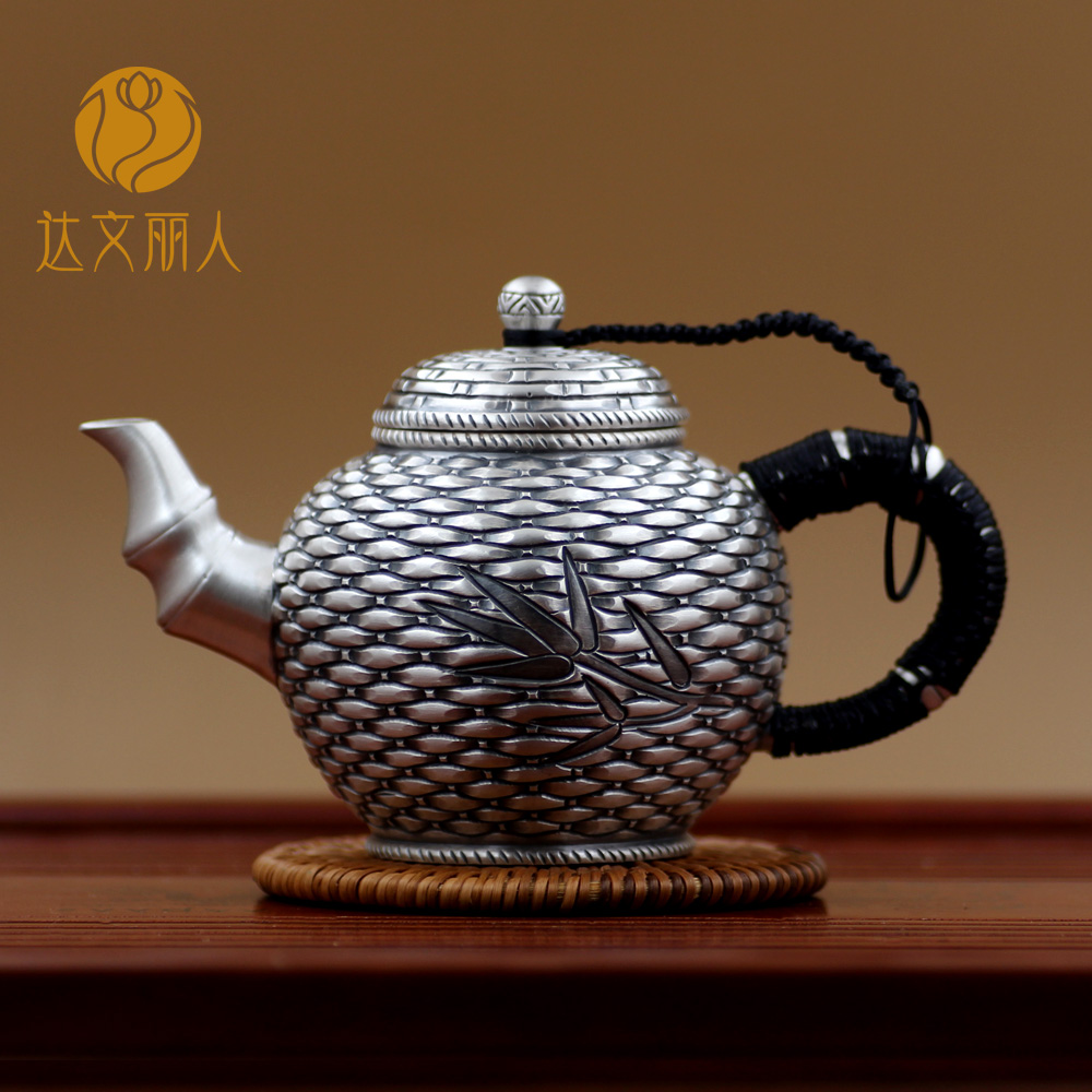 Davenport beauty sterling silver 999 sterling silver sterling silver small teapot kung fu tea pot pot pot silver silver teapot kung fu tea