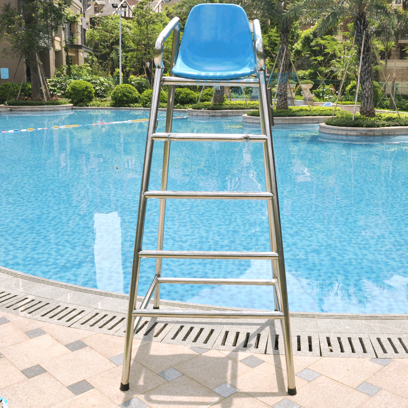 Davey dai wei lifeguards lifesaving chair umpire chair chairs overlooking quality 304 stainless steel swimming pool equipment