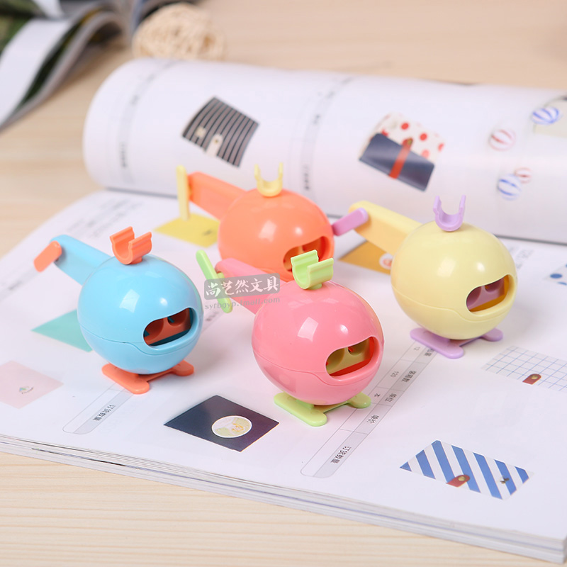 Dawn dawn helicopter styling holes pencil sharpener pencil sharpeners pencil sharpener creative pencil sharpener japan and south korea stationery 91241