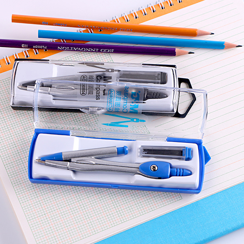 Dawn dawn stationery compasses compasses acs90804 ruler suit student stationery set compasses compasses professional plotter ruler