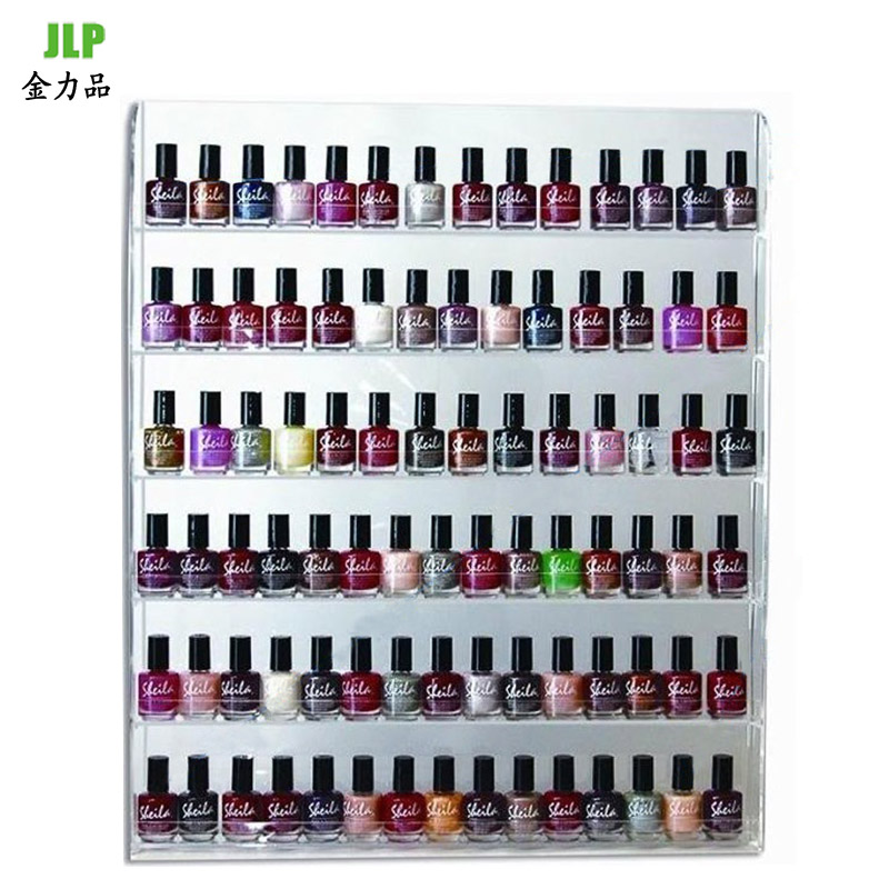 Decorative nail polish nail shop display cabinet shelf boutique shelves showcase cosmetic display rack wall rack multilayer