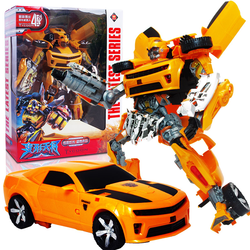 Deformation toy robot optimus prime transformers bumblebee transformers 4 children's day playing with mini car model