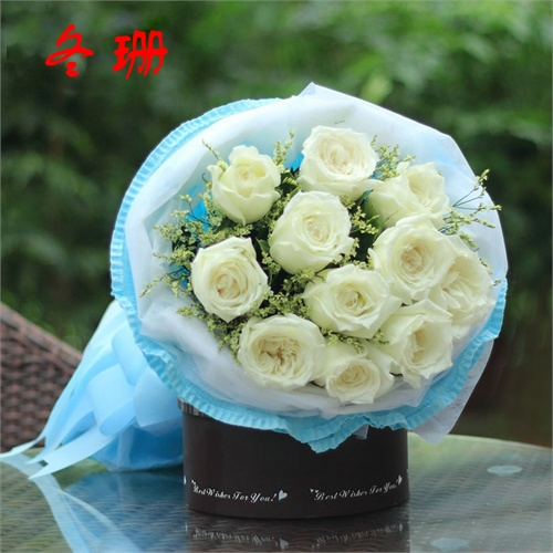 China spring white flowers china spring white flowers shopping get quotations dehui birthday 11 white roses valentines day blessing spring rock huadian jiaohe jilin flower delivery flowers mightylinksfo