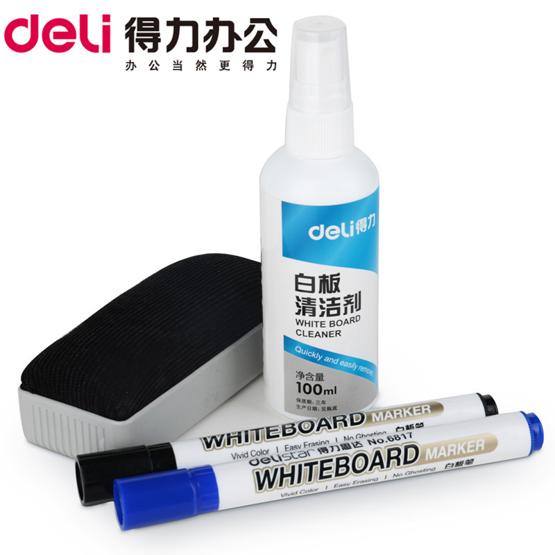 Deli 7839 whiteboard rub rub handwritting suit stubborn suit whiteboard pen whiteboard pen whiteboard cleaning fluid cleaning fluid office products