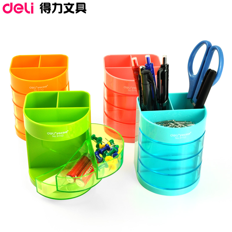 Deli 9152 pen pen creative fashion multifunction pen plastic pen holder pen student office stationery pen barrel