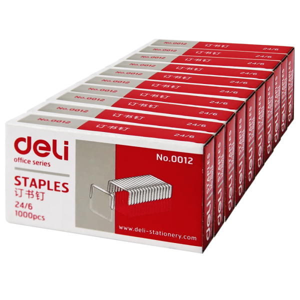 Deli (deli) 0012 standard uniform staples staples 12 # staples universal 1 boxes of 1000 needle
