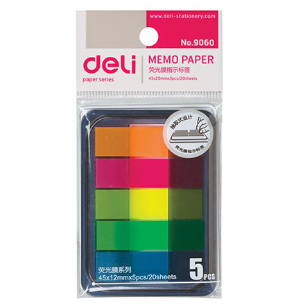 Deli deli 9060 color fluorescent label instructions pepsi stickers stickers sticky note paper affixed fluorescent film