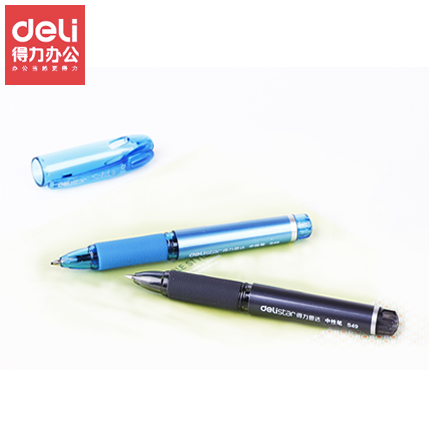 Deli deli s49 short short rod pen pen gel pen 0.5mm mini compact portable pocket pen