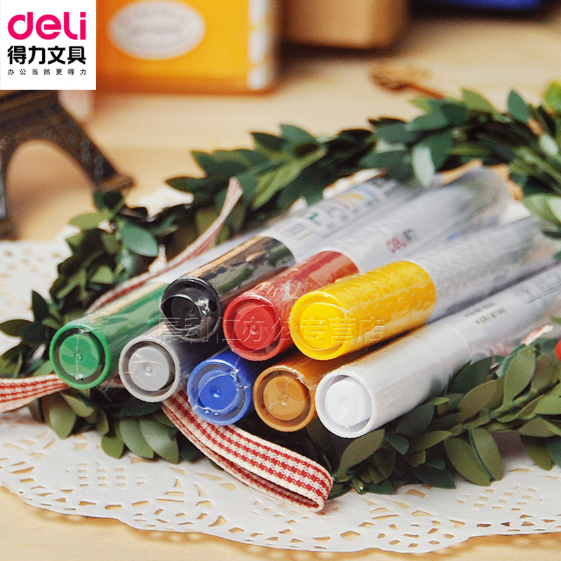 Deli deli s558 paint pen fill paint pen tire paint pen pen graffiti pen color pen sign pen stationery