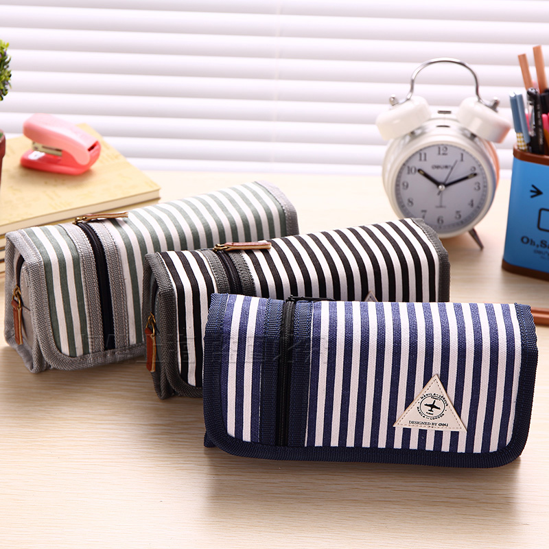 Deli pencil bag free shipping 31731A male and female students creative pencil pencil large capacity pencil simple pencil