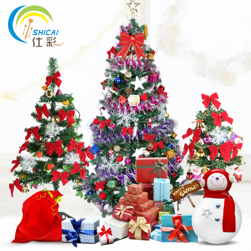 Deluxe package 1.5 m christmas tree decorations hanging christmas ornaments 30 cm/60cm plus thick christmas tree accessories