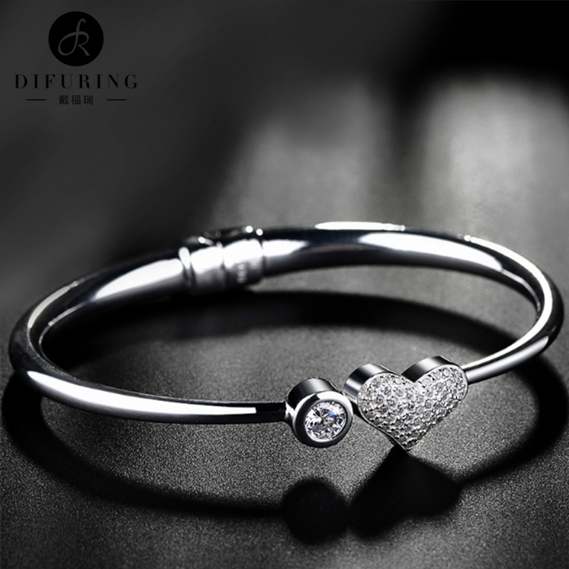 Demopoulos silver fine silver bracelet opening silver bracelet female minimalist fine bracelet bracelet to send his girlfriend a birthday gift