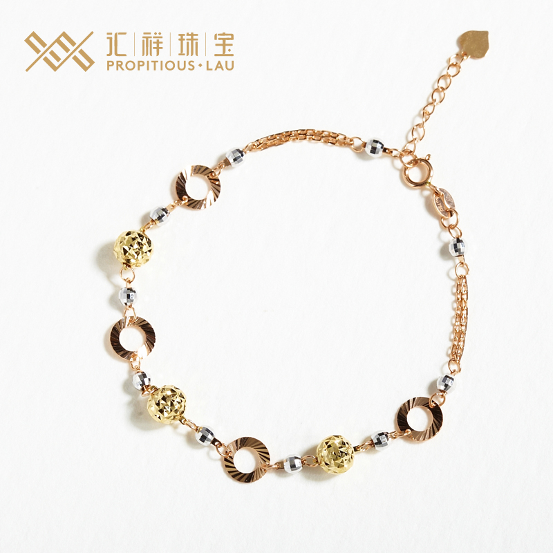 Department of cheung jewelry gold jewelry exquisite bracelet female models k gold bracelet bracelet bracelet women counter genuine