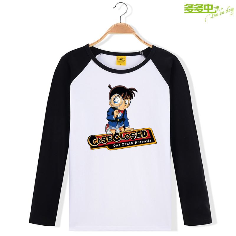 Detective conan kids boys in big boy child long sleeve t-shirt autumn 2016 spring and autumn new clothes