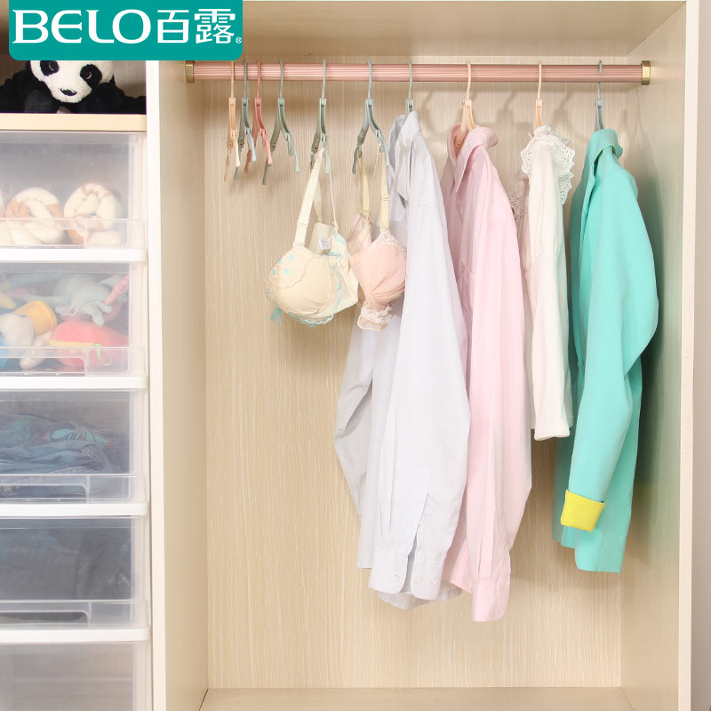 Dew travel portable folding hanger racks plastic hangers tourism can multifunction clothes drying rack suits