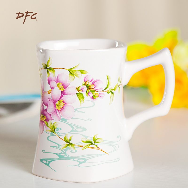 Dfc european creative minimalist ceramic mug drinking cup coffee mug cup breakfast cereal cup milk cup