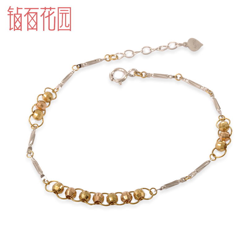 Diamond backgammon 18k-color gold bracelet fashion summer garden k gold chain bracelet authentic spot shipping