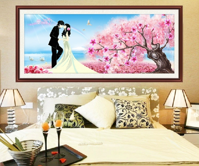 Diamond diamond embroidery stitch 5d diamond diamond embroidery painting full of diamond wedding wedding festive family living room bedroom modern minimalist