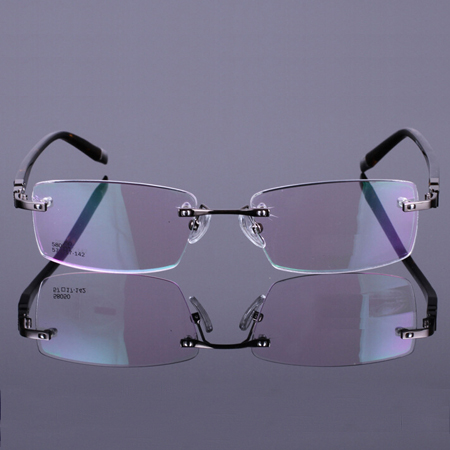 Diamond trimming rimless glasses glasses finished glasses male lightweight chromotropic nearly as the glasses with glasses