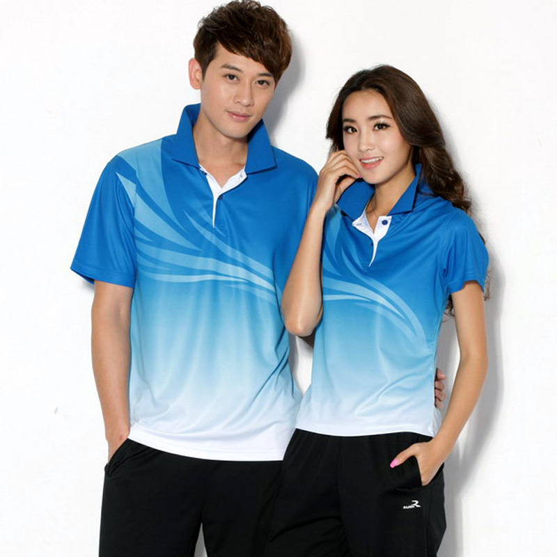 Digital gradual movement polyester wicking t-shirt lapel polo shirt custom shirt custom printing service activities
