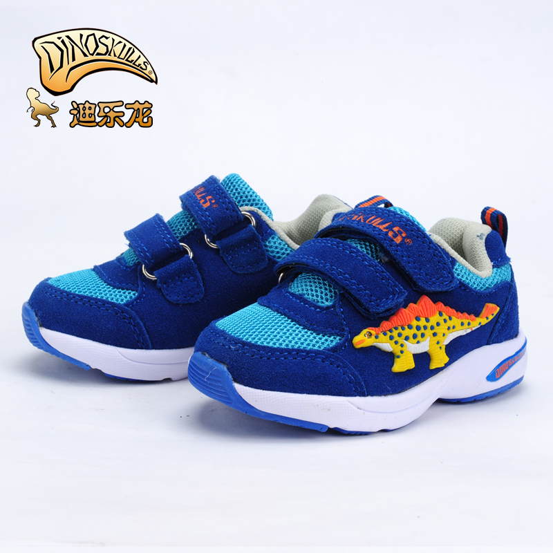 Dile long spring and autumn influx of 2016 children casual sports shoes mesh shoes for children baby boy baby boys dinosaur shoes