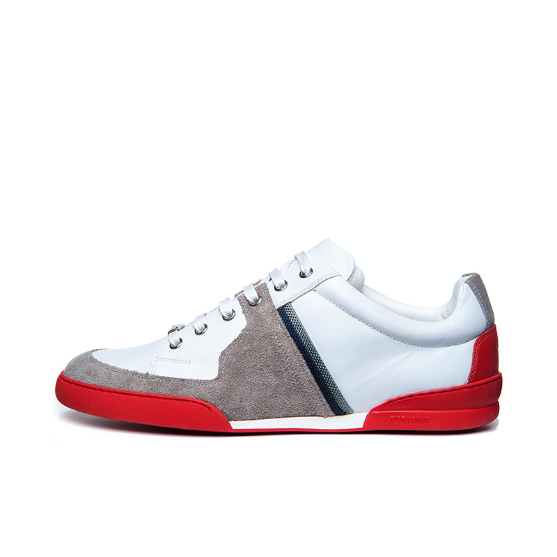 Dior/dior men's sports shoes cow leather business casual shoes lace round low shoes shoes tide shoes men