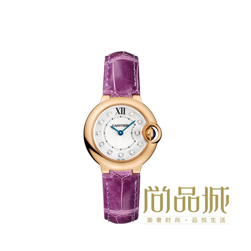 Direct mail authentic cartier cartier 2016 new leather ladies watches ballon wrist table WJBB0019