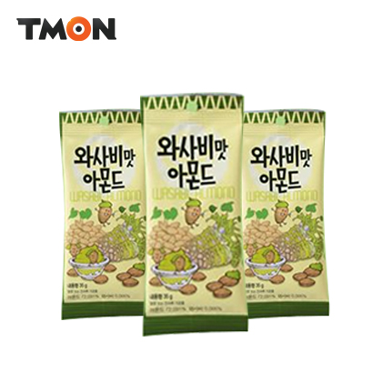 Direct mail korea genuine popular snack nuts tom 's farm mustard flavored almonds 35g * 3