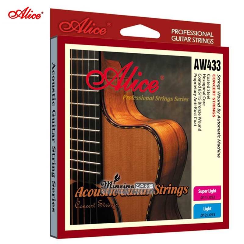 Discount mall genuine alice alice guitar acoustic guitar acoustic guitar sets of strings AW433P-SL