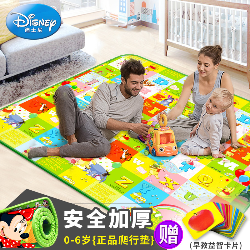 Disney baby crawling mat climb thick green mat mats for children infant children crawling blanket game pad