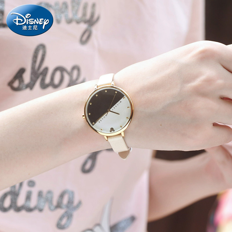 Disney children's fashion casual korean version of the trend fashion watch female form students watch waterproof inlay diamond watch ladies watches