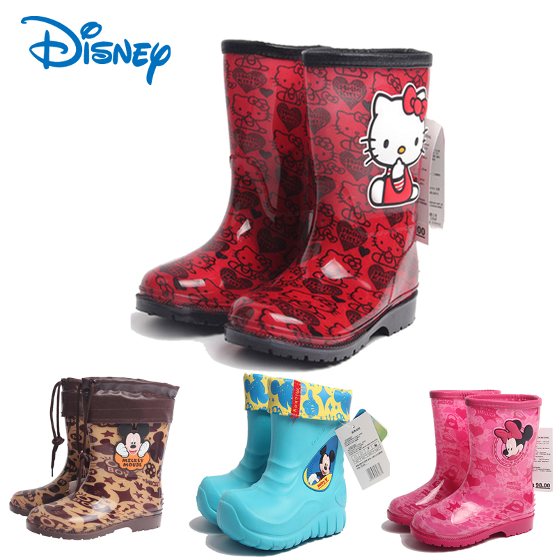 Disney children's rain boots water shoes slip shoes cartoon baby rain boots female models kt cat children's rain boots rain gear