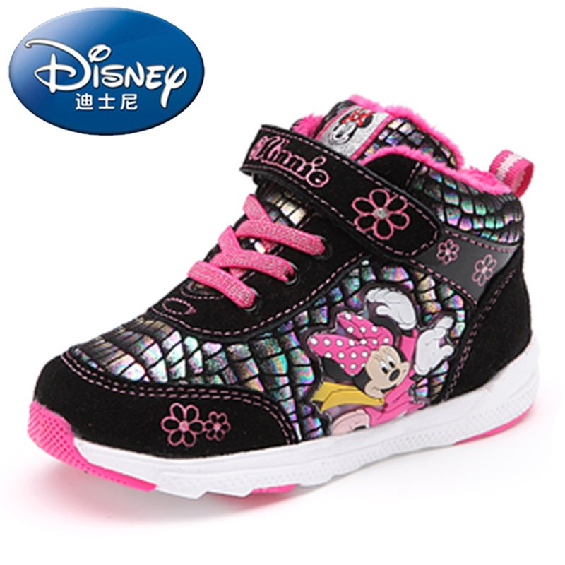 Disney children's shoes in winter new lightweight sports shoes for boys and girls warm shoes children's casual shoes tide