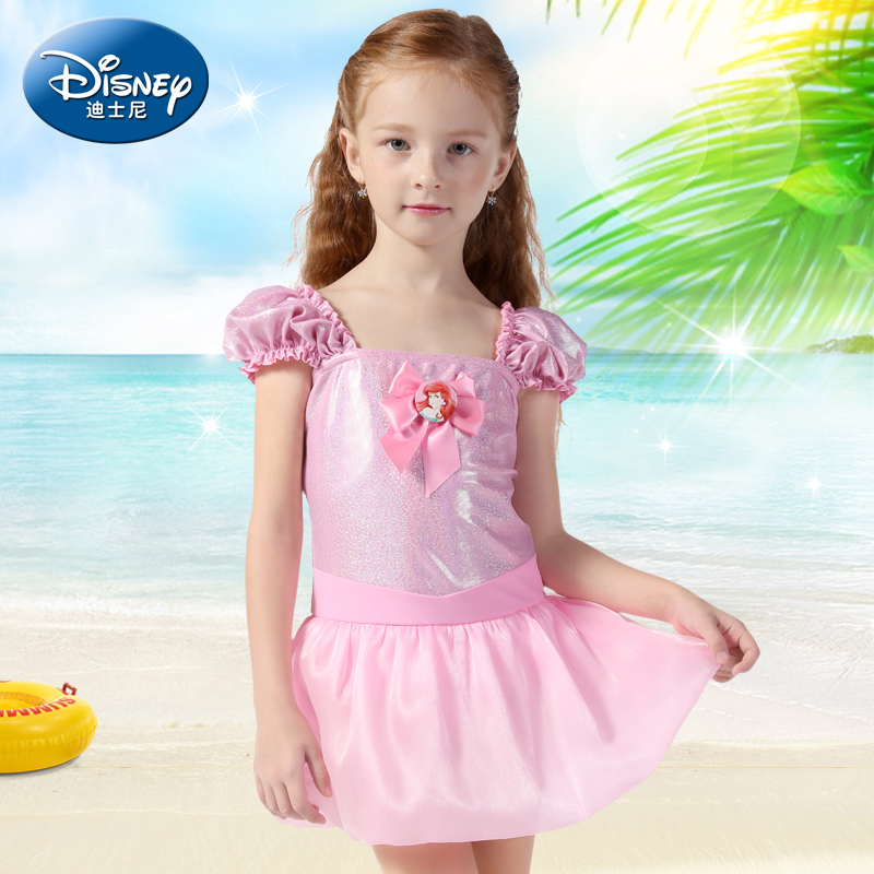 093c86b45a5b9 Get Quotations · Disney children's swimsuit girls korean siamese skirt  small girls big virgin princess baby swimwear