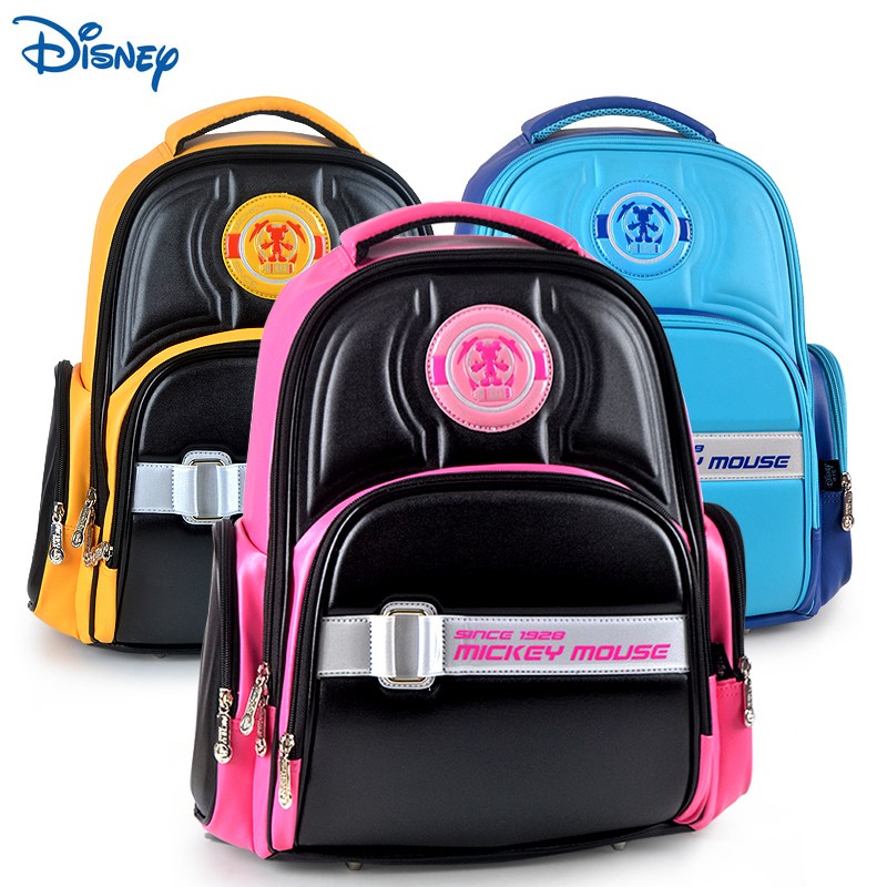 Disney schoolbag boys and girls aged 8-12 four to six grade girls schoolbag 3-6 grade boys mickey schoolbag