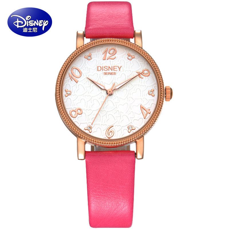Disney watches female fashion female high school students watch quartz watches disney children watch girls watch waterproof watch