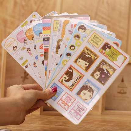 Diy handmade baby album paste accessories muvees decoration materials and tools 10 zhang stickers biscuits girl