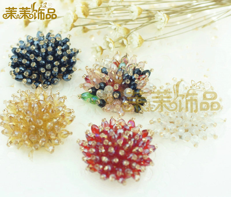 Diy handmade beaded jewelry accessories handmade bow hair accessories hairpin diy jewelry accessories diamond buckle