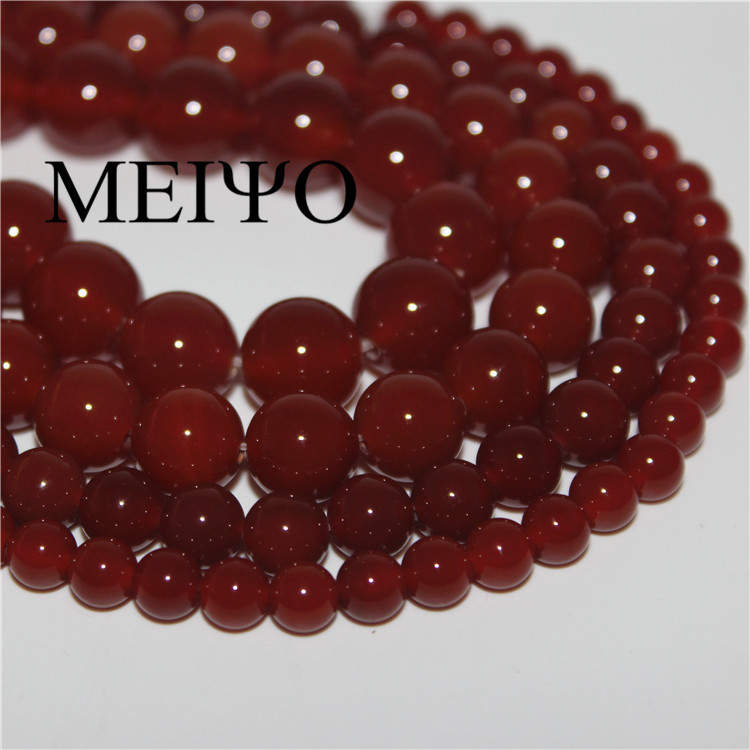 Diy jewelry materials 6-11mm 12MM natural red agate beads loose beads handmade beaded bracelet necklace accessories