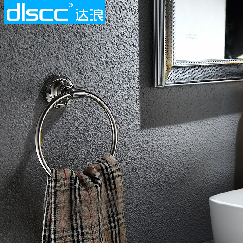 Dlscc waves up to 304 stainless steel bathroom towel ring towel ring towel ring towel rack towel hanging ring