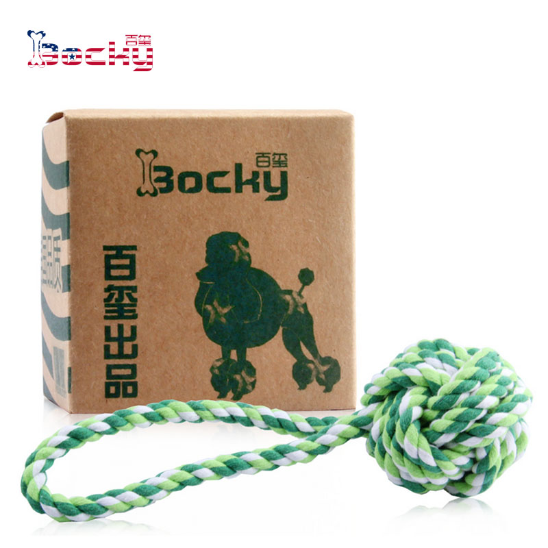 Dog bite rope pet toys dog bite resistant knots molar tooth cleaning rope pet supplies bite resistant rope 22 Cm