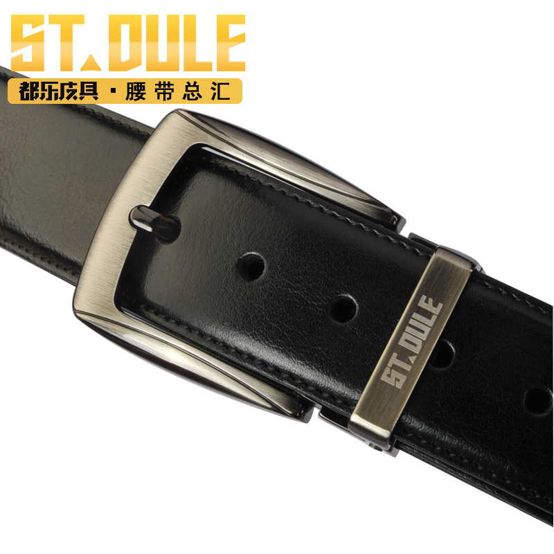 Dole fashion alloy pin buckle leather belt genuine leather casual teen fashion simple men's jeans belt