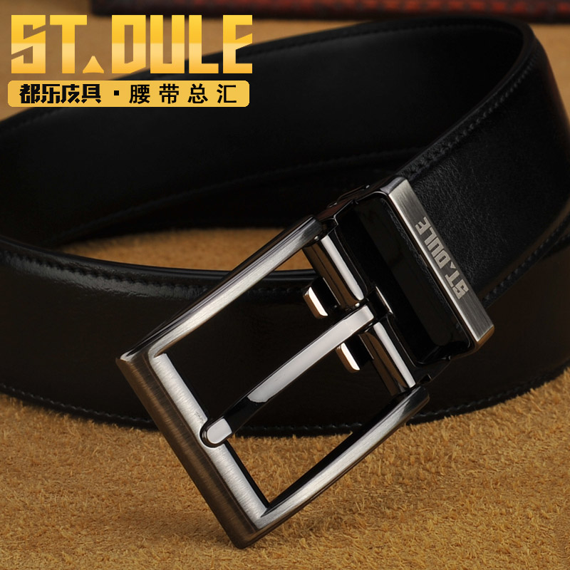 Dole fashion alloy pin buckle leather belt genuine leather fashion classic men's casual teenagers jeans belt