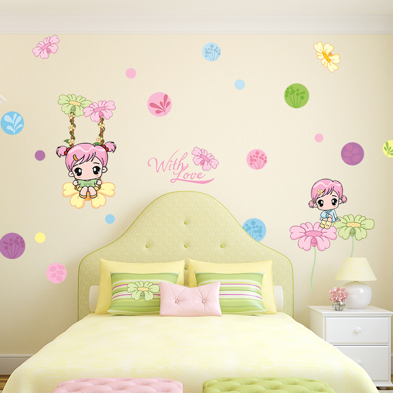 Dormitory bedroom wall stickers wall stickers wallpaper adhesive cozy bedroom girls room wall stickers cute stickers